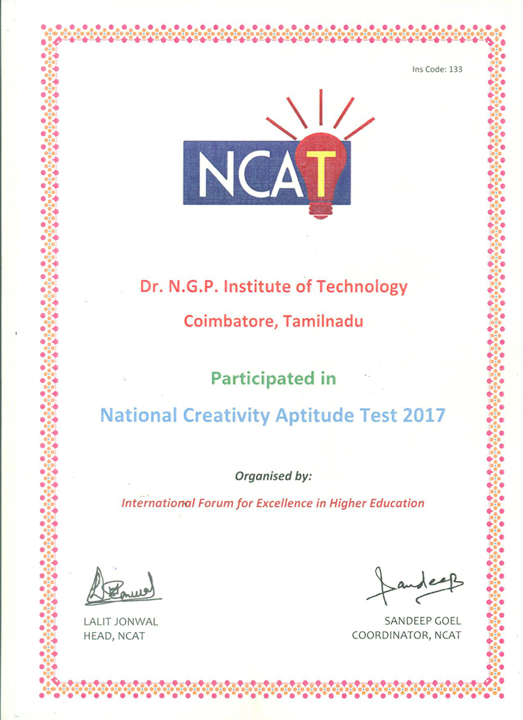 Certificates Drngp Institute Of Technology